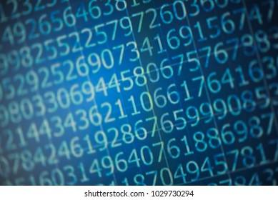 Binary computer code on a computer screen