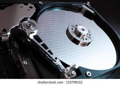 Binary data on hard drive