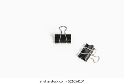 binder clips isolated on white background.