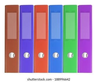 Binder Folders on White Background