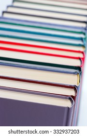 Binding of a book closeup, shallow DOF