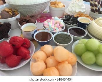 Bing Su ice cream and fruits