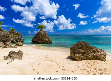 Bingin Beach in Bali Indonesia - nature vacation background