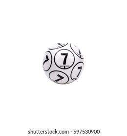 Bingo ball number seven