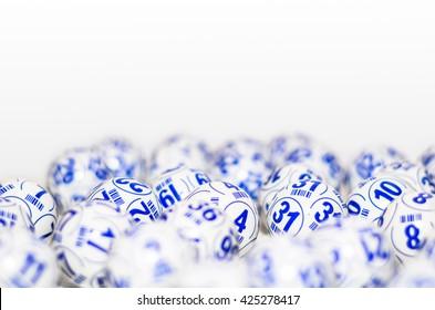 Bingo balls . Set of several bingo balls