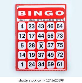 Bingo game cards.