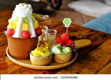 Bingsu desserts of Korean