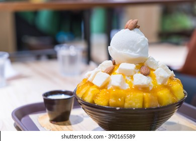 Bingsu Mango Cheese  - Korean Dessert