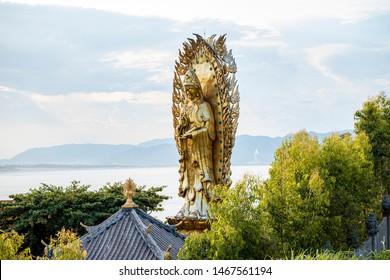 Binh Dinh Province, Viet Nam, May 10th 2019: Buddha statue of the Bodhisattva at Eo Gio, Binh Dinh Province, Viet Nam
