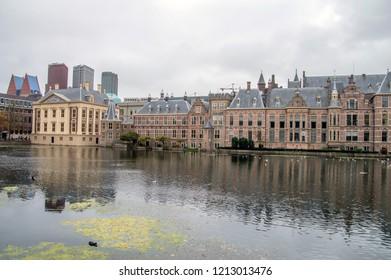 Binnenhof Building At Den Haag The Netherlands 2018