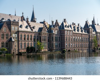 The Binnenhof is a complex of buildings in the city of The Hague, Netherlands, next to the Hofvijver. It houses the meeting place of both houses of the States General. Built in the 13th century.