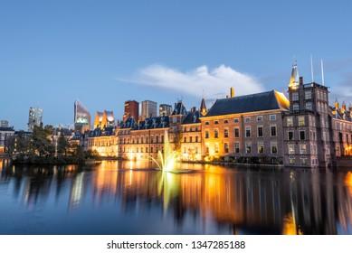 Binnenhof and The Hague skyline.