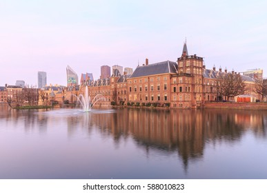 Binnenhof Palace in The Hague (Den Haag) at sunset, Netherlands
