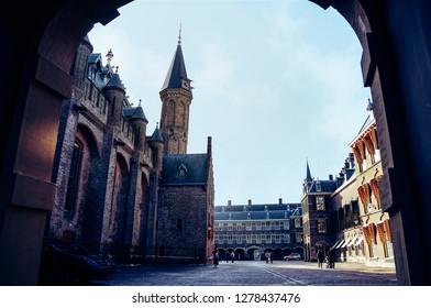 Binnenhof palace, place of dutch parliament in Hague (Den Haag), Holland, Netherlands.