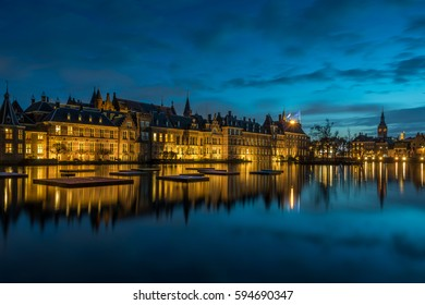 Binnenhof palace, place of Parliament in The Hague, of Netherlands