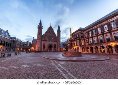 Binnenhof square, government buildings in Hague (Den Haag), South Holland, Netherlands