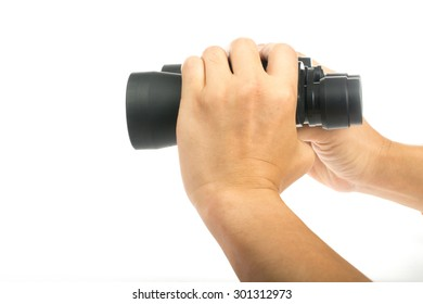 binocular for check information and search as your need with white background.