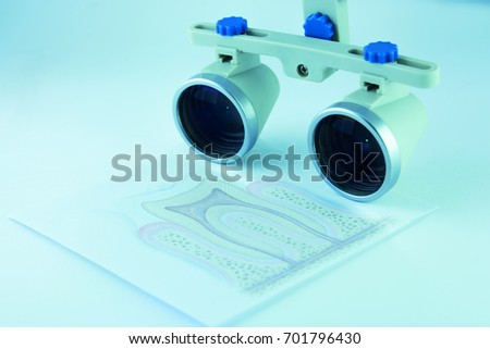 37170c70ef1b Binocular glasses magnifying glasses that are used in medicine dentistry  and surgery as well as when