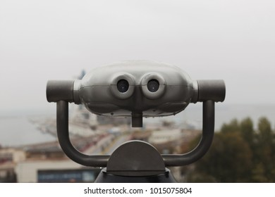 Binocular glasses. View to the sea. Odessa