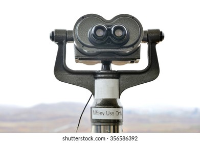 Binocular for military use only to watch  North Korea at the DMZ Zone (South Korea)