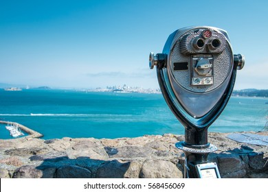 Binocular viewer of San Francisco bay