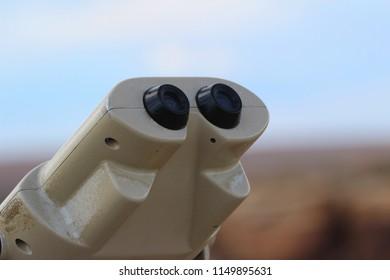 Binocular viewers, unused, with copy space background