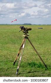 Binoculars on tripod