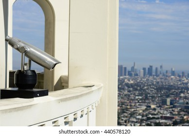 Binoculars steady on the observation deck