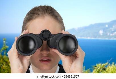 Binoculars, Surveillance, Looking.