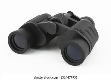 Binoculars with white background
