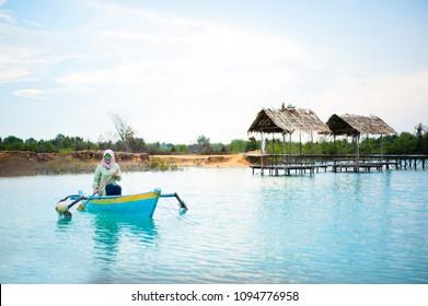 """Bintan Island, Indonesia, April 2017: """"Blue Lake at Bintan Island"""""""