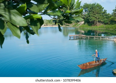 "Bintan Island, Indonesia, June 2017: ""Blue Lake at Bintan Island"""