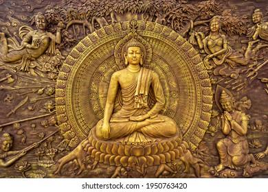 "Bintan Island, Indonesia, June 2020 :""Buddha Ornament, Tanjung Uban City, Bintan"""
