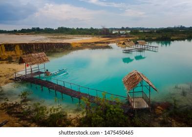 "Bintan, Kepulauan Riau, Indonesia, August 2019:""Blue Lake at Bintan Island"""