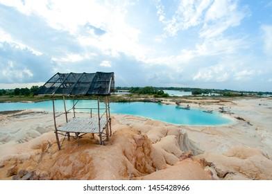 "Bintan, Kepulauan Riau, Indonesia, July 2019:""Blue Lake at Bintan Island"""