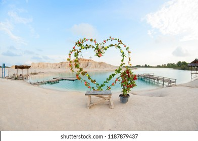 "Bintan, Kepulauan Riau, Indonesia, September 2017:""Blue Lake at Bintan Island"""