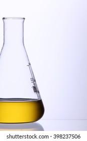 bio fuel in a glass beaker