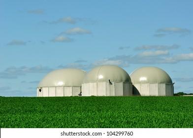 Bio gas tanks.