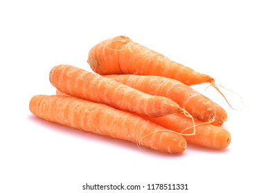 bio organic carrots studio isolated