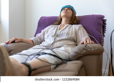 Biofeedback Patient Being Tested by Doctor