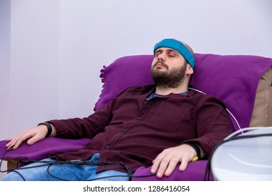 Biofeedback Theraphy Patient Being Tested