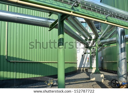 Biogas Plant Green Energy Stock Photo (Edit Now) 152787722
