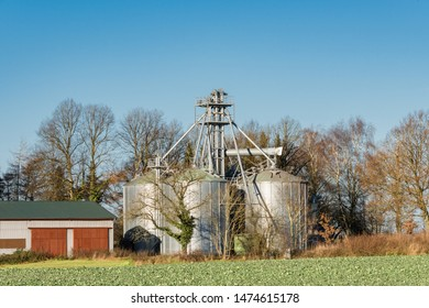 Biogas plant on a farm in Schleswig-Holstein, Germany