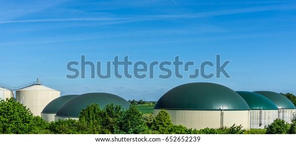 Biogas Production Biogas Plant Bio Power Stock Photo (Edit
