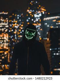 Biohazard guy, Moscow Skycrapers night
