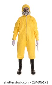 Biohazard Suit and large syringe