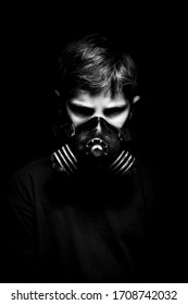 Bio-hazard themed portraits with respirator