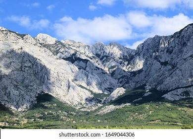 Biokovo mountains near Baska Voda and Brela , Croatia - Shutterstock ID 1649044306