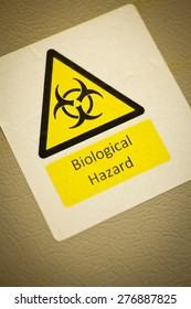 Biological hazard warning sign