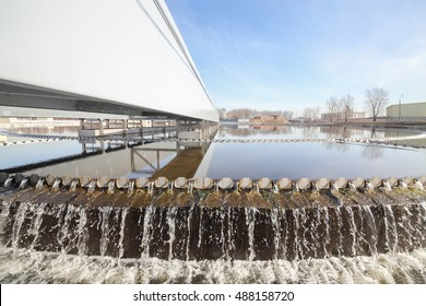 Biological wastewater treatment is carried out in aeration tanks in which water is mixed with activated sludge